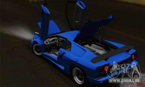Lamborghini Diablo SV 1995 (HQLM) für GTA San Andreas Innen