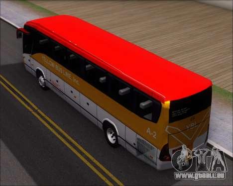 Marcopolo Paradiso G7 1050 Yellow Bus Line A-2 pour GTA San Andreas vue arrière