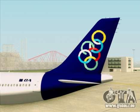 Airbus A330-300 Olympic Airlines pour GTA San Andreas vue de dessous