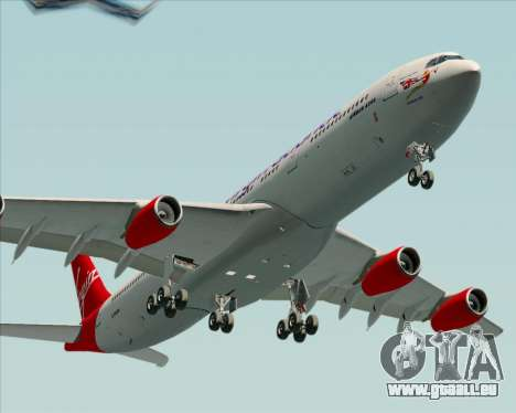 Airbus A340-313 Virgin Atlantic Airways für GTA San Andreas Rückansicht