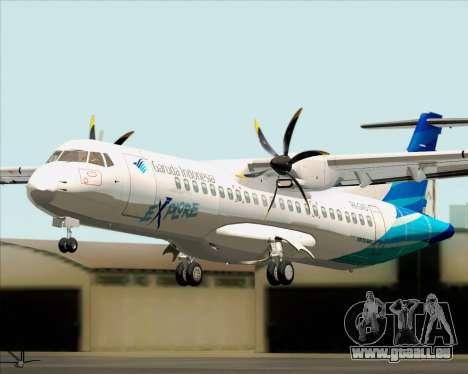 ATR 72-500 Garuda Indonesia Explore für GTA San Andreas Rückansicht