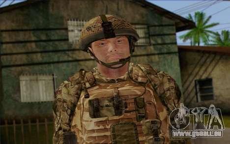 Des soldats britanniques (ArmA II: BAF) v3 pour GTA San Andreas troisième écran