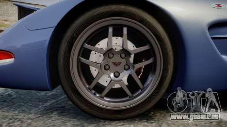 Chevrolet Corvette Z06 (C5) 2002 v2.0 für GTA 4 Rückansicht