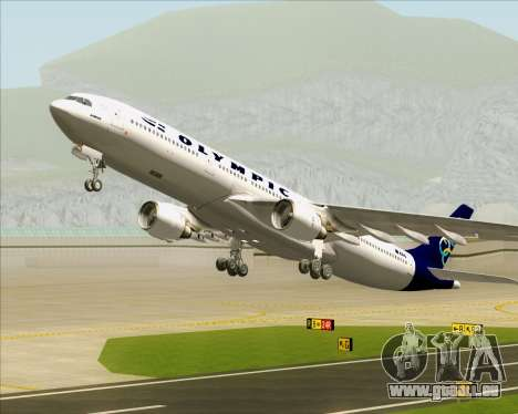 Airbus A330-300 Olympic Airlines pour GTA San Andreas roue