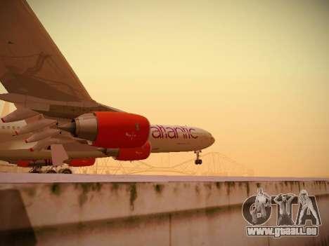 Airbus A340-600 Virgin Atlantic New Livery für GTA San Andreas obere Ansicht