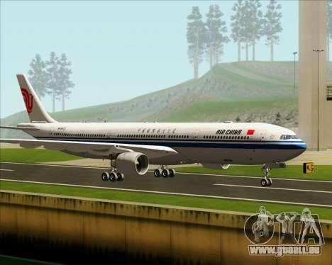 Airbus A330-300 Air China pour GTA San Andreas sur la vue arrière gauche
