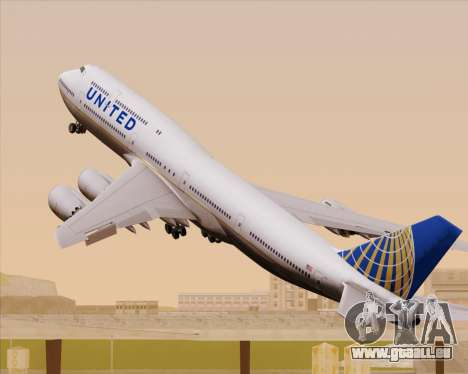 Boeing 747-8 Intercontinental United Airlines pour GTA San Andreas