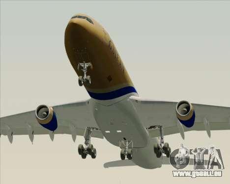 Airbus A340-313 Gulf Air pour GTA San Andreas vue de dessous