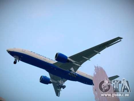 Boeing 777-212ER Transaero Airlines pour GTA San Andreas sur la vue arrière gauche