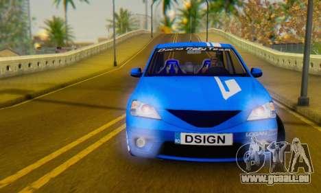 Dacia Logan Tuning Rally (B 48 CUP) pour GTA San Andreas vue arrière