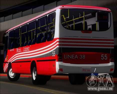 Neobus Spectrum Linea 38 Mcal. Lopez pour GTA San Andreas roue