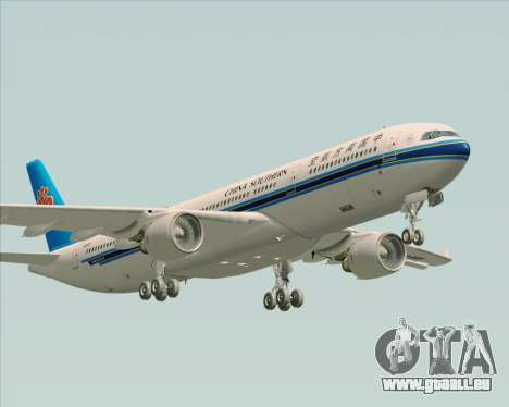 Airbus A330-300 China Southern Airlines für GTA San Andreas Unteransicht