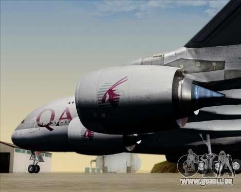 Airbus A380-861 Qatar Airways für GTA San Andreas Unteransicht