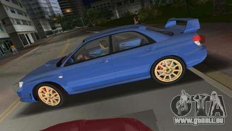 Subaru Impreza WRX STI 2006 Type 1 pour une vue GTA Vice City de la droite