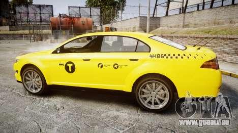 GTA V Vapid Taurus Taxi NYC für GTA 4 linke Ansicht