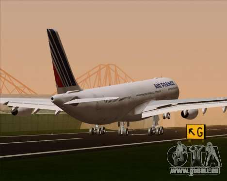 Airbus A340-313 Air France (Old Livery) pour GTA San Andreas roue