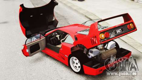 Ferrari F40 1987 pour GTA 4 est une vue de l'intérieur
