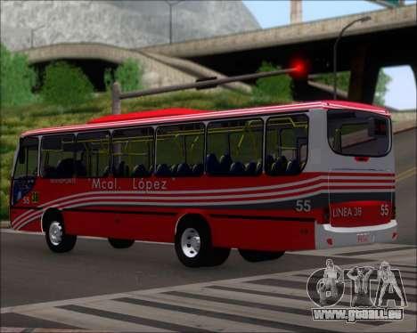 Neobus Spectrum Linea 38 Mcal. Lopez pour GTA San Andreas sur la vue arrière gauche