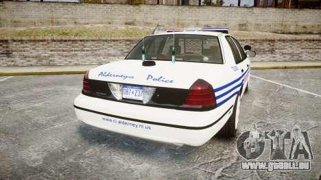 Ford Crown Victoria Alderney Police [ELS] für GTA 4 hinten links Ansicht