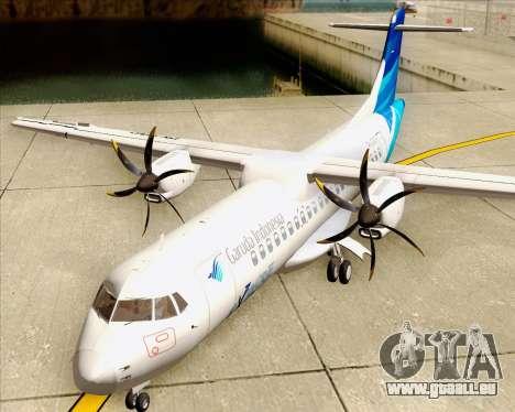 ATR 72-500 Garuda Indonesia Explore pour GTA San Andreas vue intérieure