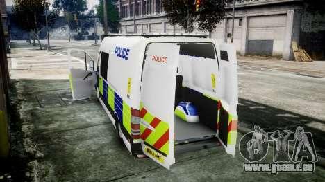 Mercedes-Benz Sprinter Police 2014 pour GTA 4 est un droit