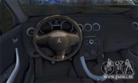 Peugeot 308 2010 pour GTA San Andreas sur la vue arrière gauche
