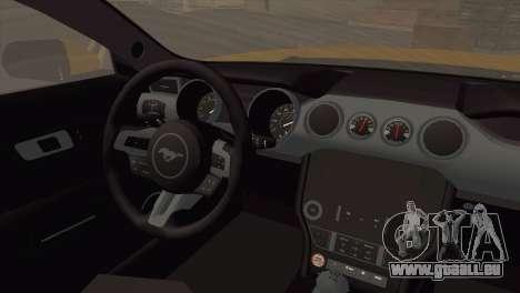 Ford Mustang GT 2015 pour GTA San Andreas sur la vue arrière gauche