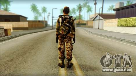 Taliban Resurrection Skin from COD 5 für GTA San Andreas zweiten Screenshot