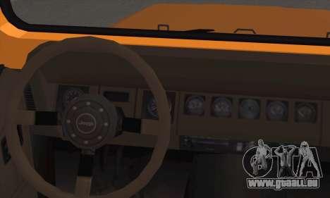 Jeep Wrangler pour GTA San Andreas sur la vue arrière gauche