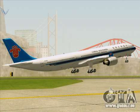 Airbus A330-300 China Southern Airlines pour GTA San Andreas moteur