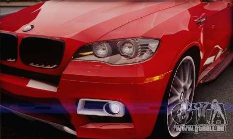 BMW X6M 2013 v3.0 für GTA San Andreas Innenansicht