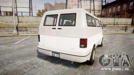 GTA V Bravado Youga pour GTA 4 Vue arrière de la gauche