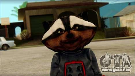 Guardians of the Galaxy Rocket Raccoon v1 für GTA San Andreas dritten Screenshot