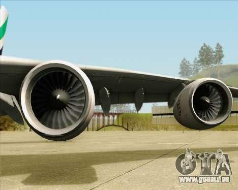 Airbus A380-841 Emirates für GTA San Andreas Seitenansicht