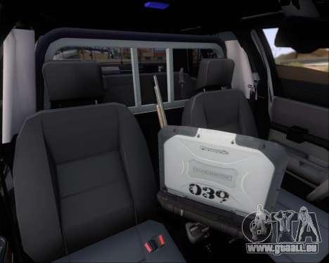 Ford Crown Victoria Tallmadge Battalion Chief 2 pour GTA San Andreas roue