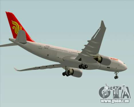 Airbus A330-200 Air China pour GTA San Andreas vue de dessus
