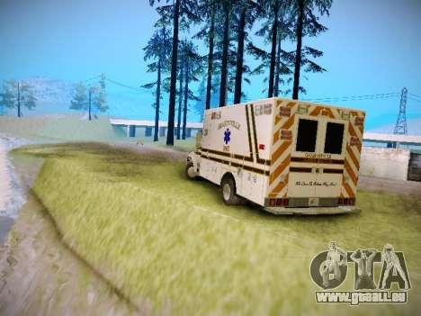 Pierce Commercial Grasonville Ambulance für GTA San Andreas rechten Ansicht