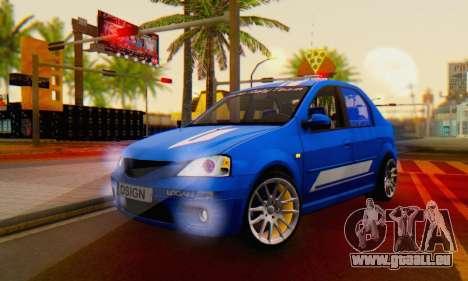 Dacia Logan Tuning Rally (B 48 CUP) pour GTA San Andreas