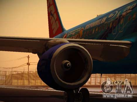 Airbus A320-214 TAM Airlines RIO pour GTA San Andreas moteur