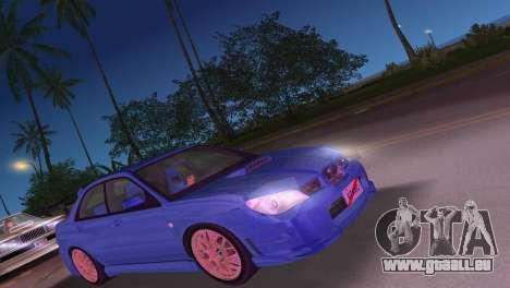 Subaru Impreza WRX STI 2006 Type 4 für GTA Vice City linke Ansicht