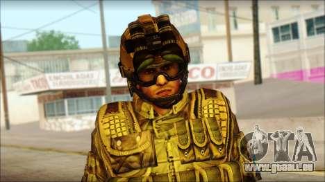 Les soldats de l'UNION européenne (AVA) v3 pour GTA San Andreas troisième écran