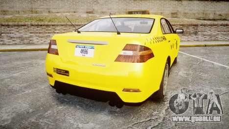 GTA V Vapid Taurus Taxi NYC für GTA 4 hinten links Ansicht