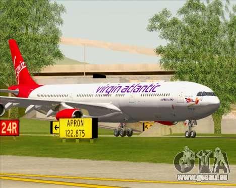 Airbus A340-313 Virgin Atlantic Airways pour GTA San Andreas moteur