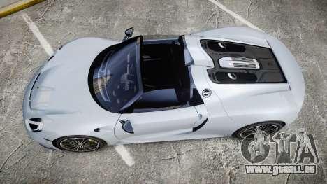 Porsche 918 Spyder 2015 pour GTA 4 est un droit