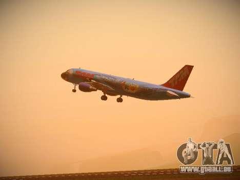 Airbus A320-214 TAM Airlines RIO pour GTA San Andreas vue arrière