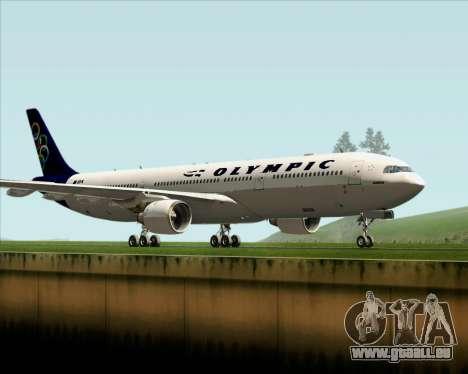 Airbus A330-300 Olympic Airlines pour GTA San Andreas laissé vue