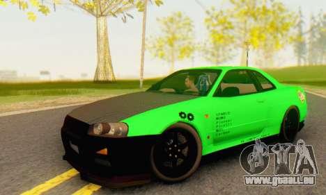Nissan Skyline GT-R 34 für GTA San Andreas