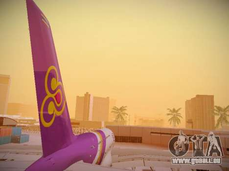 Airbus A380-800 Thai Airways International pour GTA San Andreas vue de dessous