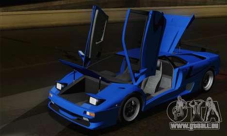 Lamborghini Diablo SV 1995 (HQLM) pour GTA San Andreas vue de dessous
