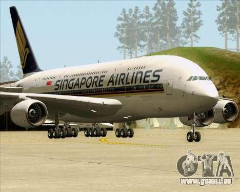 Airbus A380-841 Singapore Airlines für GTA San Andreas linke Ansicht